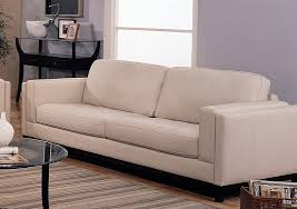 metro sofa in creme color 100 leather cover by coaster 502461 - Sofa Creme