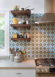 sink faucet moroccan tile kitchen backsplash concrete countertops