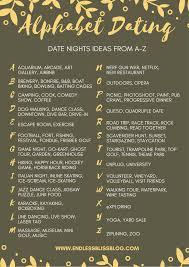 alphabet dating date ideas from a z endless bliss