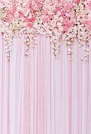 Wedding Backdrop Amazon Amazon Com 5x7ft Pink Flowers Backdrop Photography Background