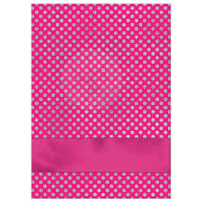 pink polka dot ribbon fuchsia pink white silver polka dots confirmation invitation