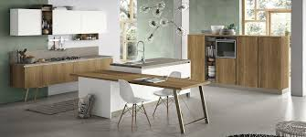 contemporary kitchen wooden island infinity stosa cucine