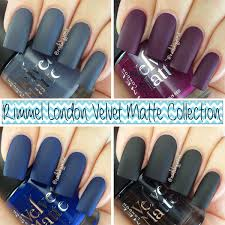 nails by jema rimmel london velvet matte collection swatches