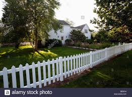 house with a white picket fence cape cod hyannis massachusetts