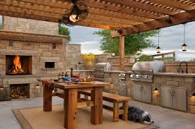 Patio Grills Built In Built In Barbecues Porch Beach Style With Wicker Chairs
