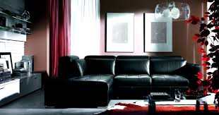gray and red living room pinterest black leather couch plus white