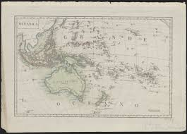 Map Of Oceania 1824 Map Of Oceania Showing Australia As Nuova Olanda Notasia