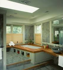 bathroom 2017 restful spa bathroom with corner drop in bathtub