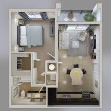 appartement avec une chambre le plan maison d un appartement une pièce 50 idées deux pièces