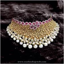 bridal choker necklace images Bridal choker necklace from p sathyanarayan sons pinterest jpg