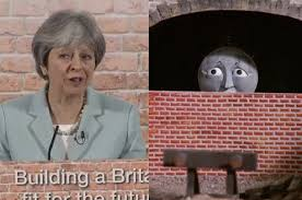 Brick Wall Meme - someone thought it would be a good idea for theresa may to stand in