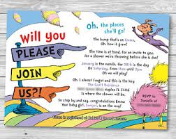 dr seuss baby shower invitations dr seuss baby shower raffle invitation insert and