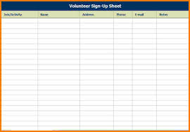 Event Sign Up Sheet Template Free 4 Event Sign In Sheet Template Receipt Templates