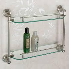 Glass Bathroom Shelf With Towel Bar Gothic Collection Cast Iron Glass Shelf With Towel Bar Matte