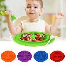 rice table for kids 1pcs baby portable dish bowl rice plate food grade silicone