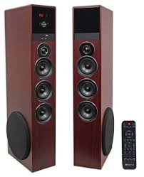 kenwood home theater powered subwoofer rockville tm150c cherry powered home theater tower speakers 10