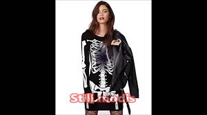 Halloween Skeleton Bodysuit Halloween Costume 2015 Women Skeleton Dress Youtube