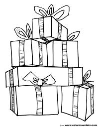 christmas presents coloring pages eliolera com
