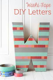 Sewing Room Decor Diy Washi Tape Letter Craft Create Sewing Room Decor