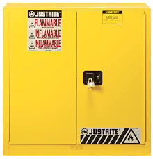 combustible safety cabinet 40 gal 3 shelves 2 m c doors