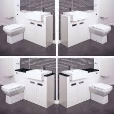 Ebay Bathroom Vanities Bathroom Vanity Unit Cabinets Back To Wall Toilet Basin Sink Suite
