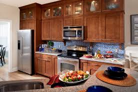 Kitchen Cabinet Distributor by Interior Paint Timberlake Cabinets With Merola Tile Backsplash