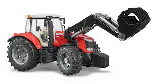 03047 bruder massey ferguson 7624 tractor with front loader the