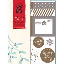 metallic christmas labels british red cross gift shop