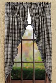 Primitive Swag Curtains Country Primitive 84 Wide By 36 Swag Curtains Burgandy Check