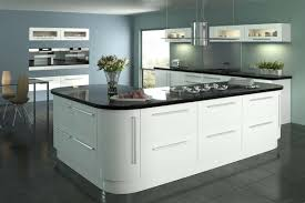 White Gloss Kitchen Cabinets by White Gloss Kitchen Doors Lumi White