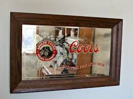 coors light refresherator manual coors beer mirror barware vintage bar decor man cave decor coors