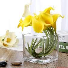 Flowers Glass Vase Buy Desktop Potted Flowers Hydroponics Bottle Glass Vase
