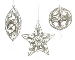 assorted linen hanging iron ornaments the orchard