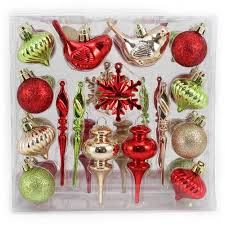 time traditional mini ornaments set of 36
