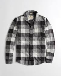 Flannel Shirts Guys Stretch Plaid Flannel Shirt Guys Clearance Hollisterco