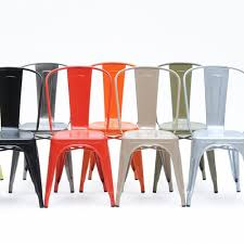 chaise a chaise de jardin chaise a inox 12 couleurs de tolix