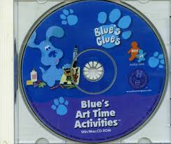 109 16321 blue u0027s clues blue u0027s art time activities video game
