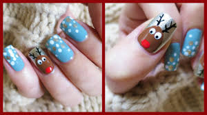 christmas nail art easy reindeer design missjenfabulous youtube