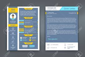 Resume Vector Resume And Cover Letter Or Cv Template Flat And Material Design