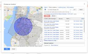 Zip Code Radius Map by Master Adwords Location Targeting