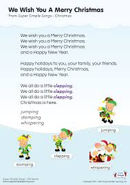 lyrics poster for we wish you a merry song from