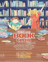 poster pour enfant livre de la bibliothèque pour enfants du modèle de laffiche stock