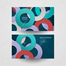 circle layout vector colorful circle layout design for business card template royalty