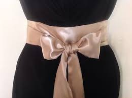 satin sash belt 2 5 x60 gold satin sash belt self tie bow update party dress