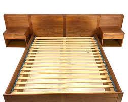Platform Bed With Floating Nightstands Vintage Floating Nightstand Etsy
