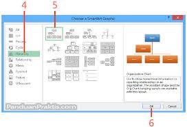 cara membuat struktur organisasi yang menarik cara membuat bagan organisasi di excel 2013