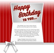 text birthday card corporate birthday ecards employees clients happy birthday cards