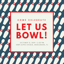 dark teal pin pattern bowling invitation templates by canva