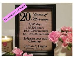 20th wedding anniversary 20th anniversary etsy