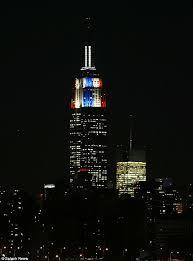 empire state building lights tonight us election 2012 results empire state building turns blue as